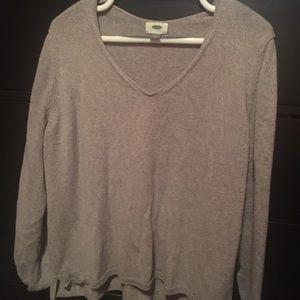 Grey Vneck Sweater